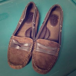 Boc leather loafers